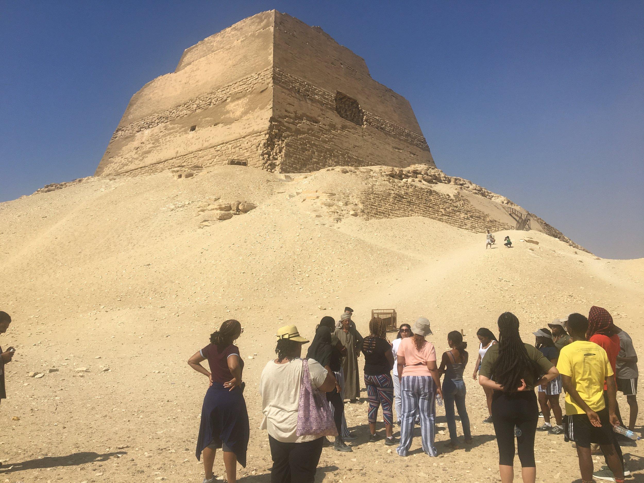 - Before entering Seneferu's pyramid at Maidum
