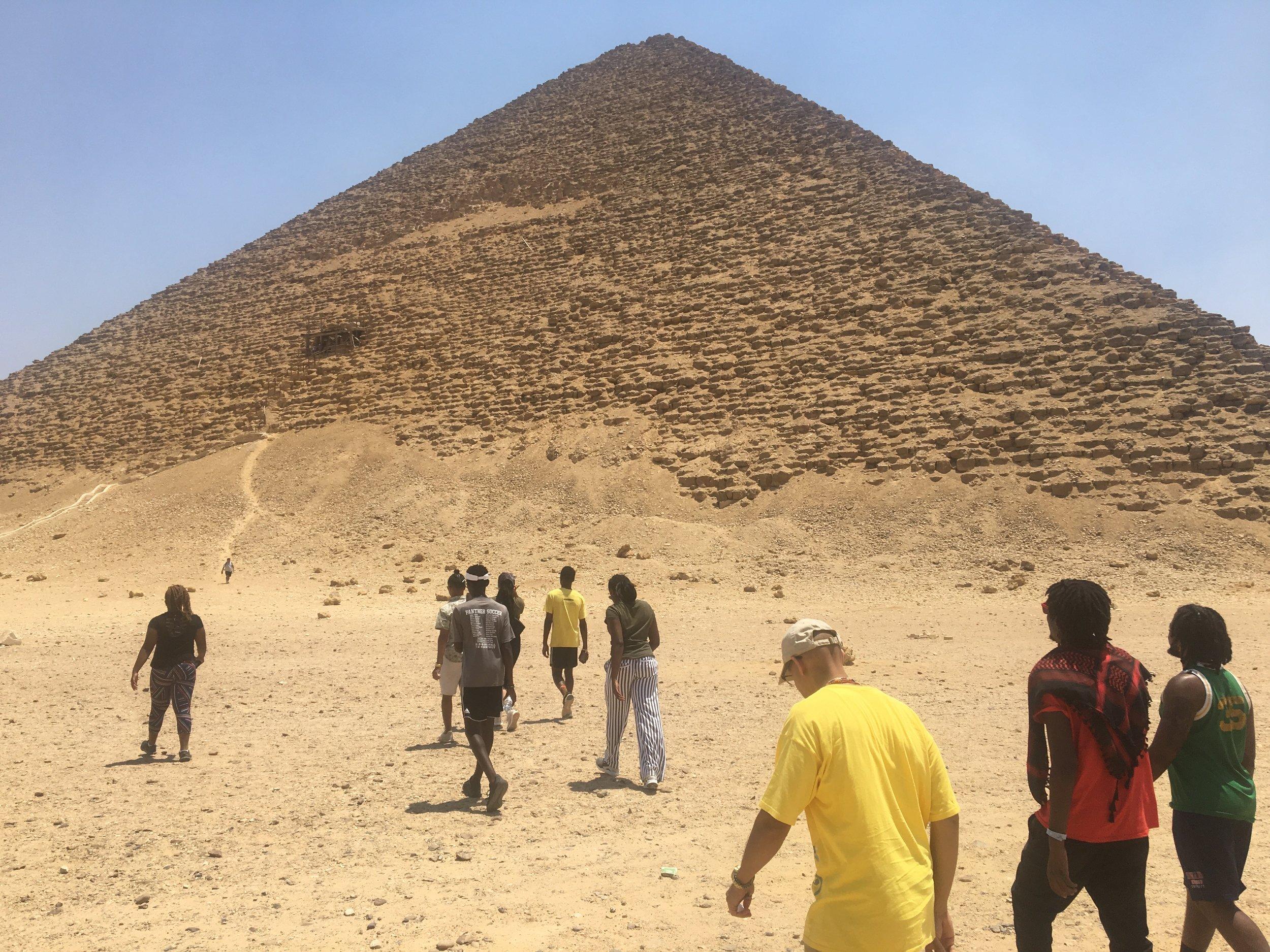 - Preparing to enter the Red Pyramid, Dashur