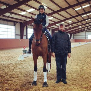 Rachel and Lancaster BBR attending a clinic with Conrad Schumacher.