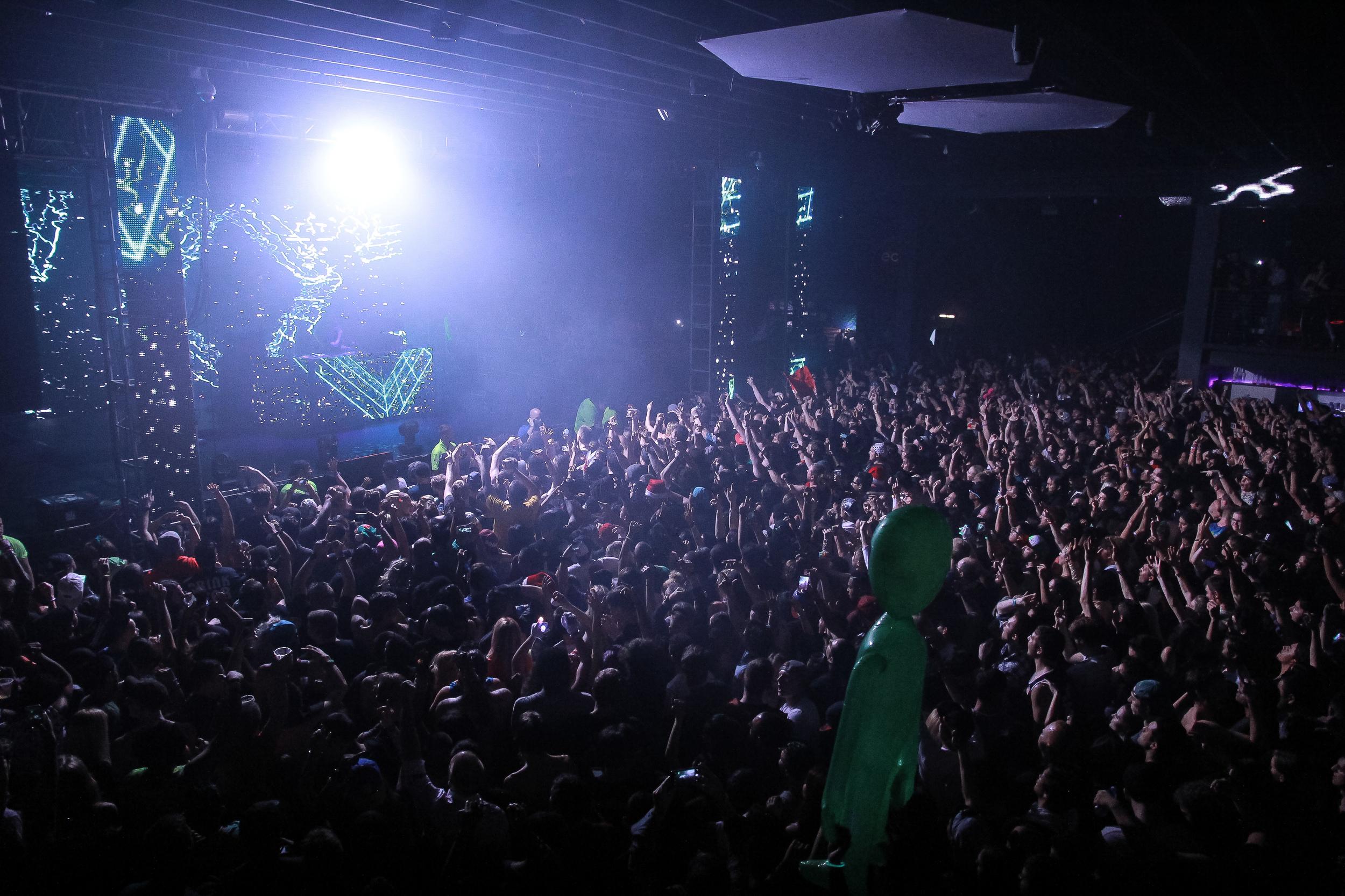 Skrillex at Echostage, Dec 26 2015, in Washington D.C.