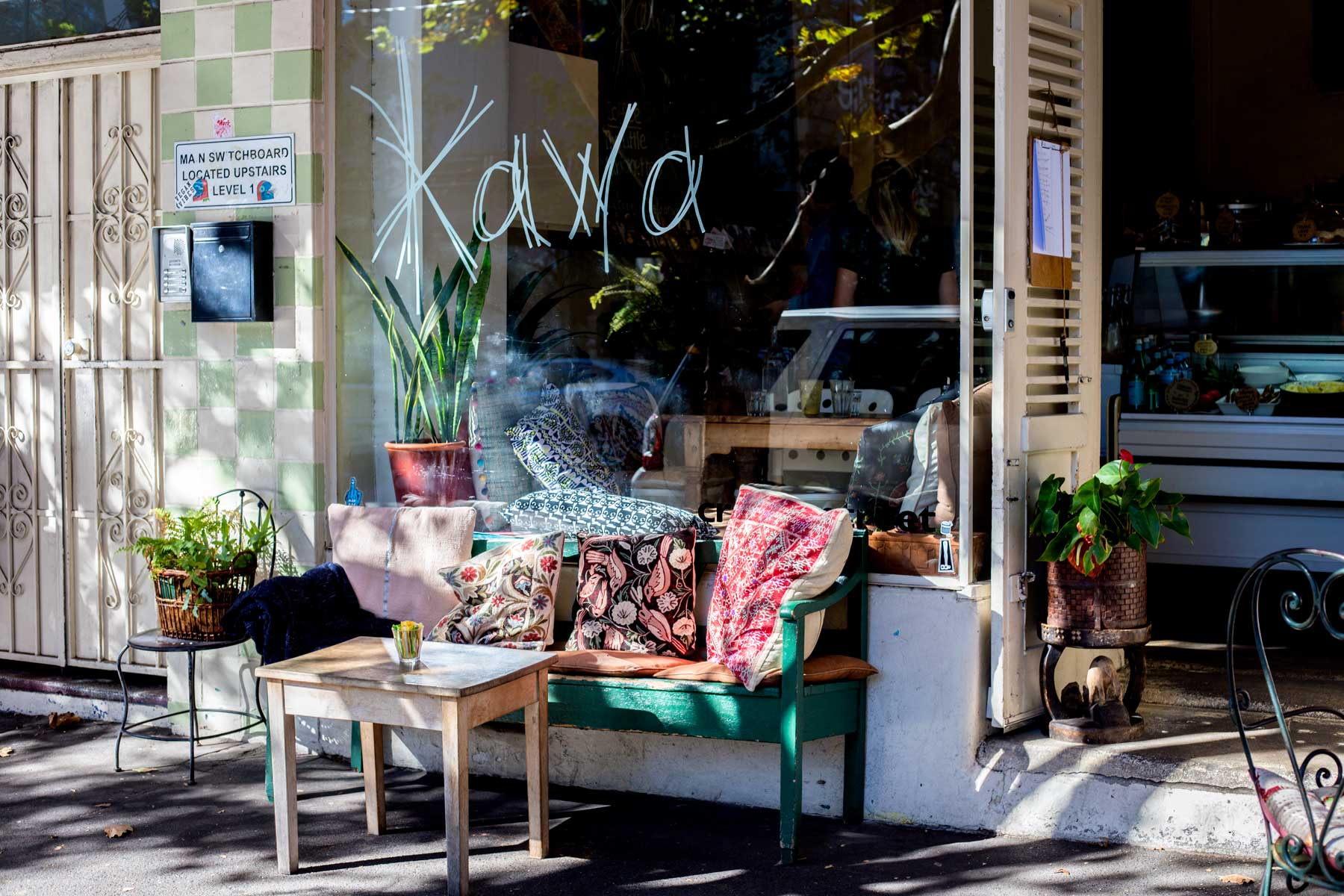 Kawa - Superbly cosy, Kawa has transformed a residential, heritage home, into a perfect village cafe and juice bar. With polished wooden floors, sun-drenched seating, plenty of cushions and quirky trinkets and decorations, Kawa offers sweetness both in its excellent brunch menu and aesthetic.346-350 Crown Street, Surry Hills