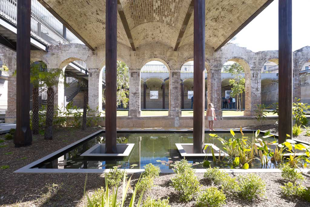 Paddington Reservoir Gardens - A hidden, quiet space in the middle of the busy city, the Paddington Reservoir Gardens regularly is the canvas upon which revolving art is displayed. The brainchild of architects Tonkin Zulaikha Greer and landscape architects JMD Design, this space was transformed from a disused reservoir into a multilayer garden and public space. (Image: Brett Boardman)