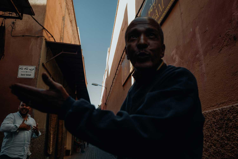 Off-duty in Marrakesh.(James Broadbent)