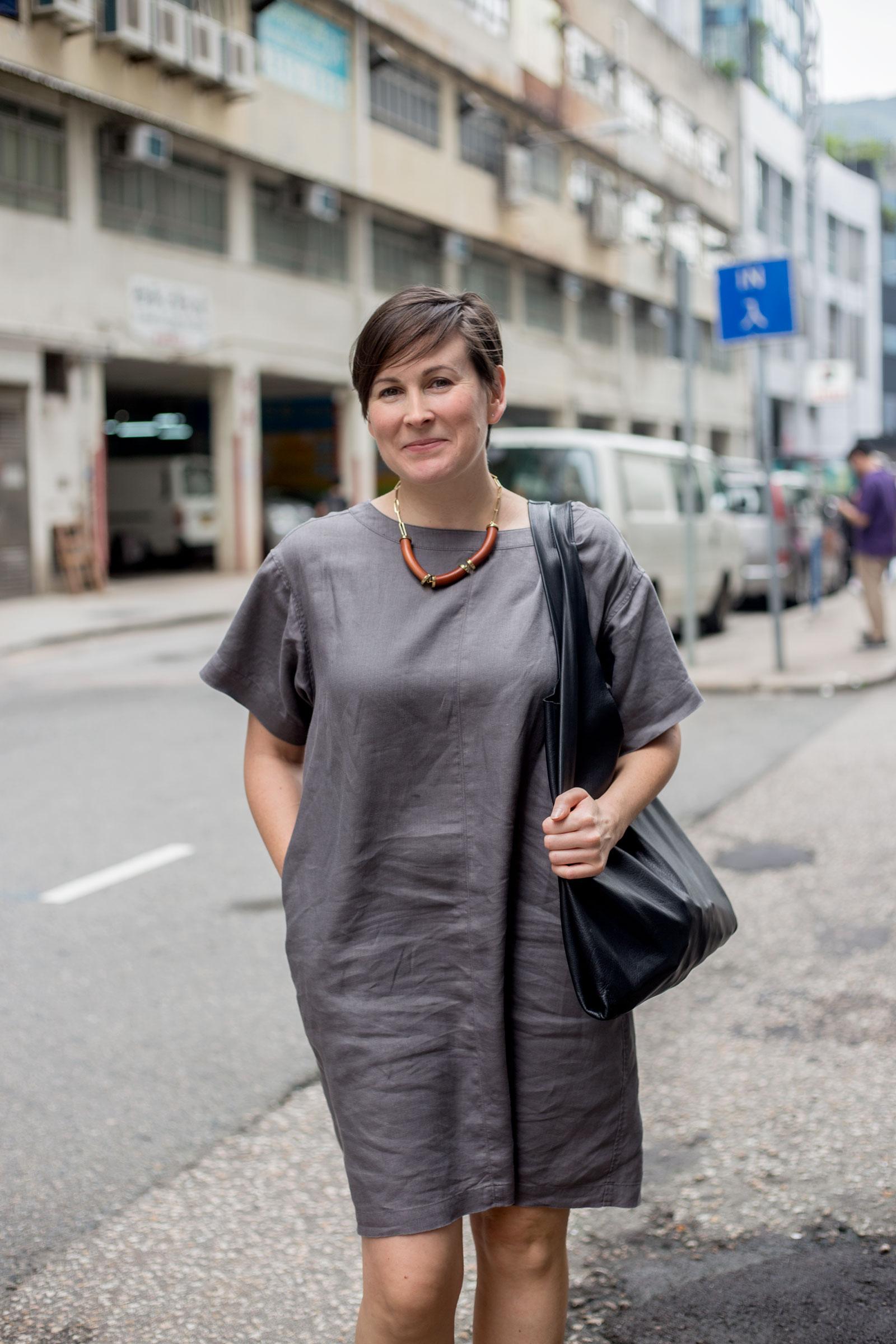 Suzy Annetta near her office in Wong Chuk Hang.(Jeremy Smart for  Aerostorie )