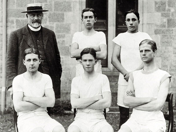 A young Raymond Begg (top right) at Prince Alfred College, Adelaide.