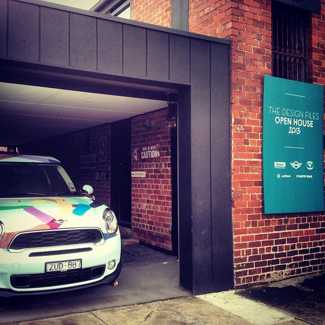 Kirra Jamison customised Mini tucked away from the Melbourne rain.