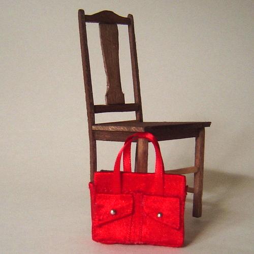 Happy Bag (Detail) approx. 3cm x 3cm x 5cm  Little Old Bag 2005 The Doll's House, Preston