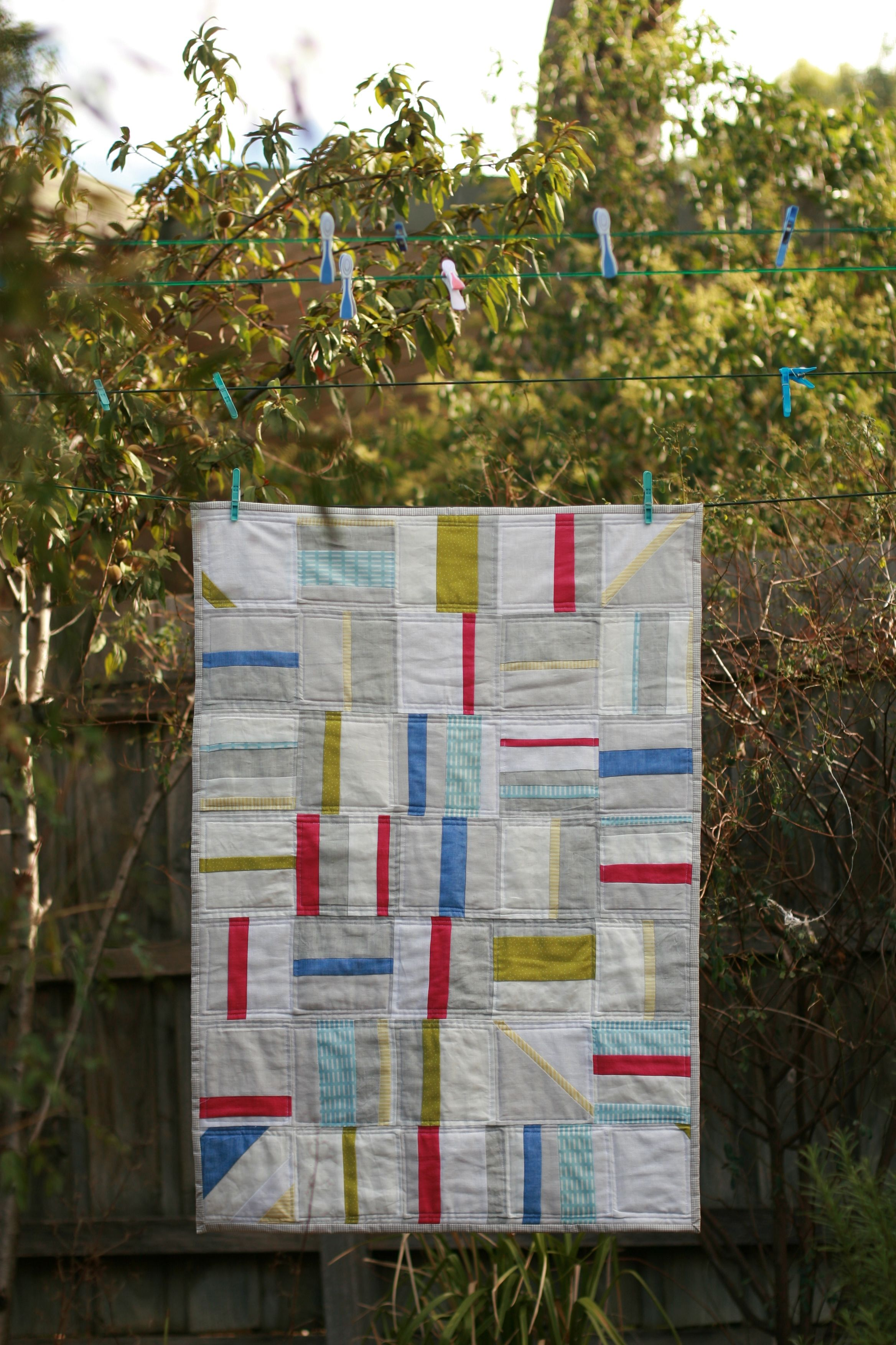 Hundreds and Thousands Quilt   2012 Linen and Cotton. Cot sized quilt