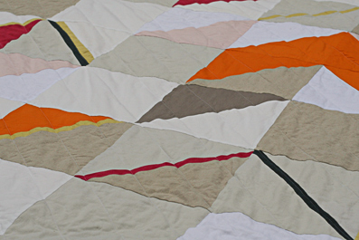 Overland Quilt  2013 Linen and cotton. Queen/King quilt Available exclusively through  Southwood