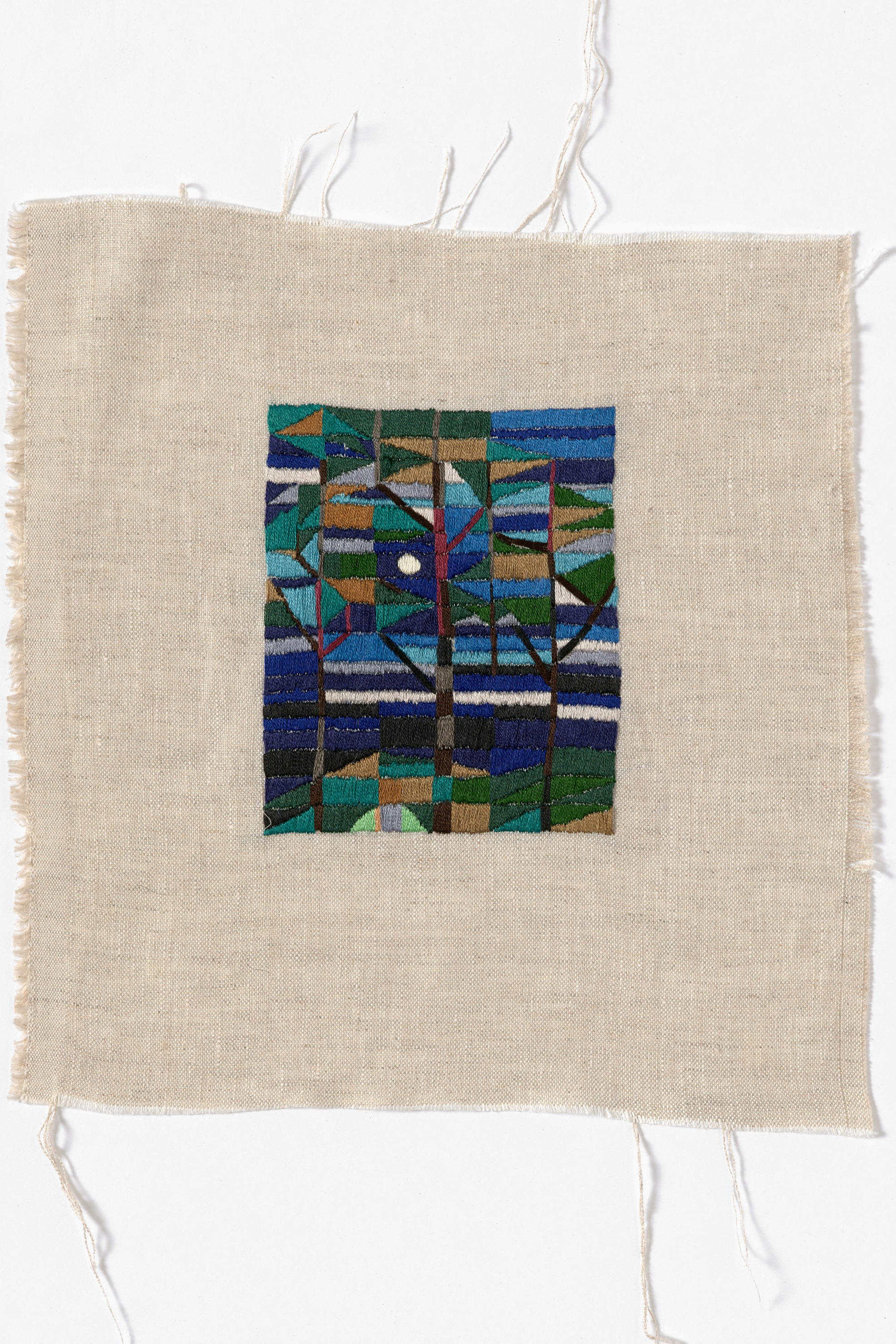 Glen Forbes, midnight  2014 Cotton thread on linen 26 x 28cm