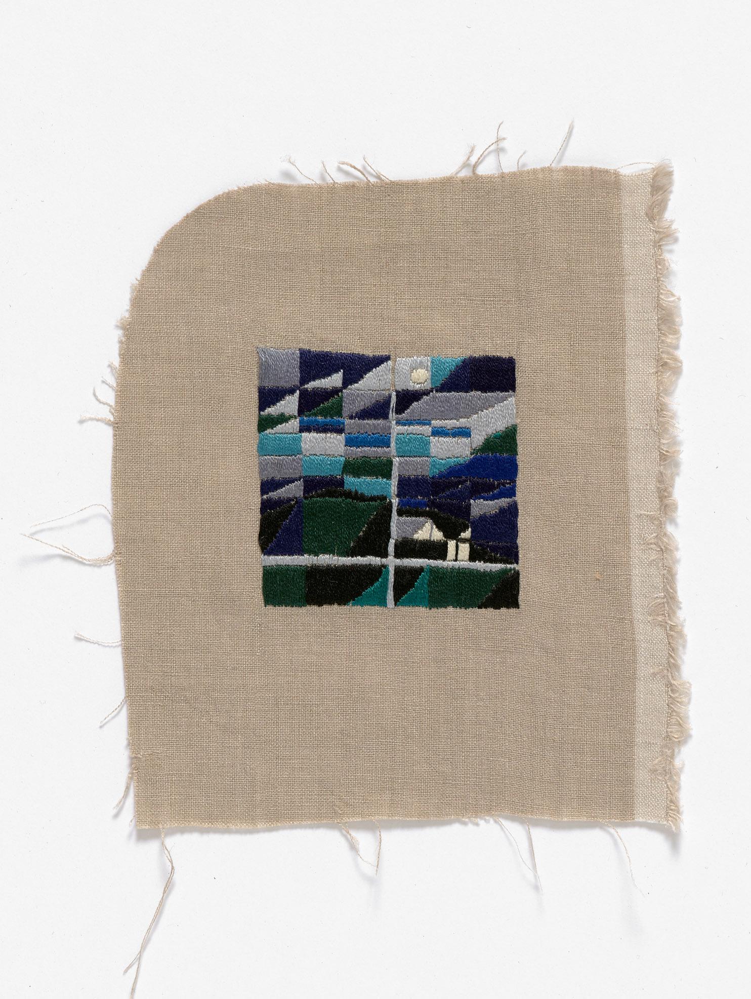 Before bedtime, Venus Bay  2015 Cotton thread on linen 16 x 18cm