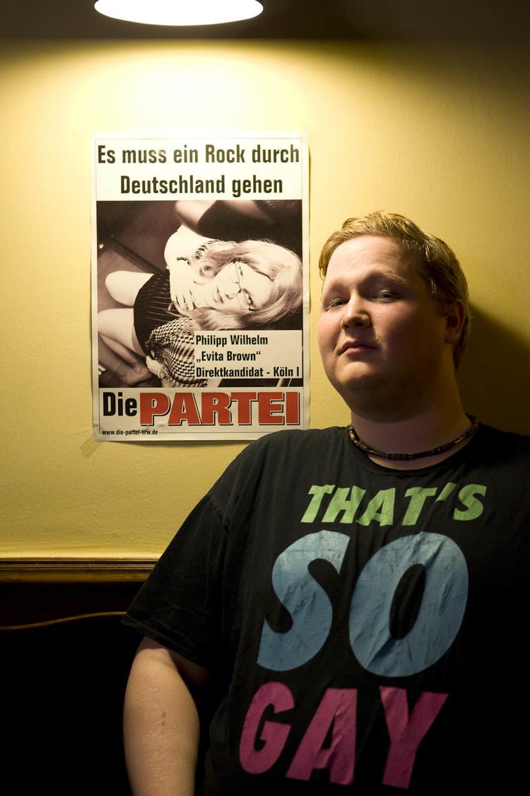 Bundestagswahlkampf 2013: Der Vorsitzende der FTP - Freie Tuntenpartei.