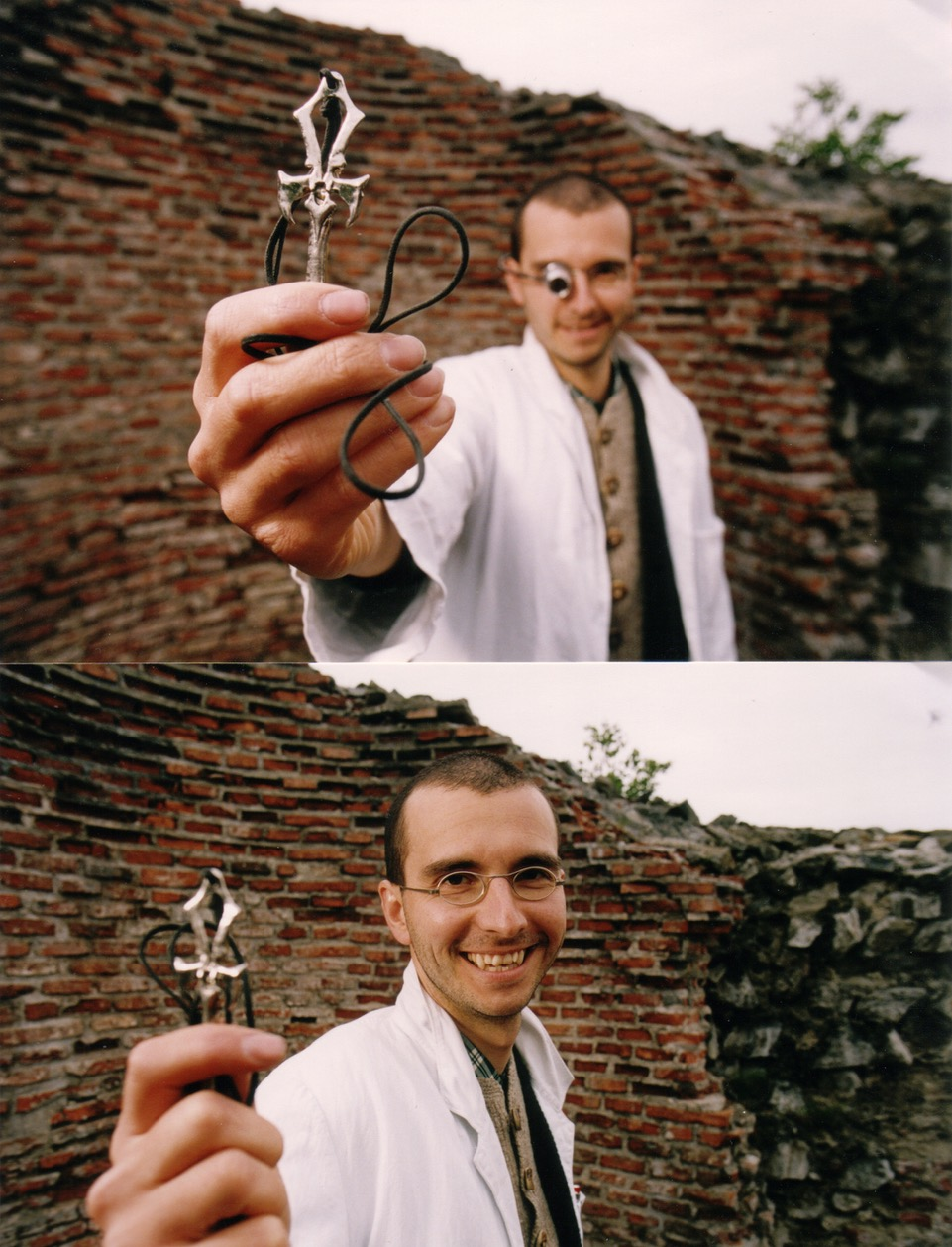 mark benecke with vampire cross in transylvania castle bran national geographic press photo.jpeg