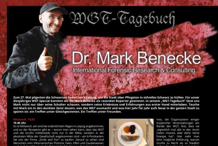 MARK BENECKES - WGT-TAGEBUCH 2