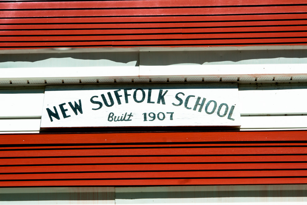 New Suffolk School Nameplate