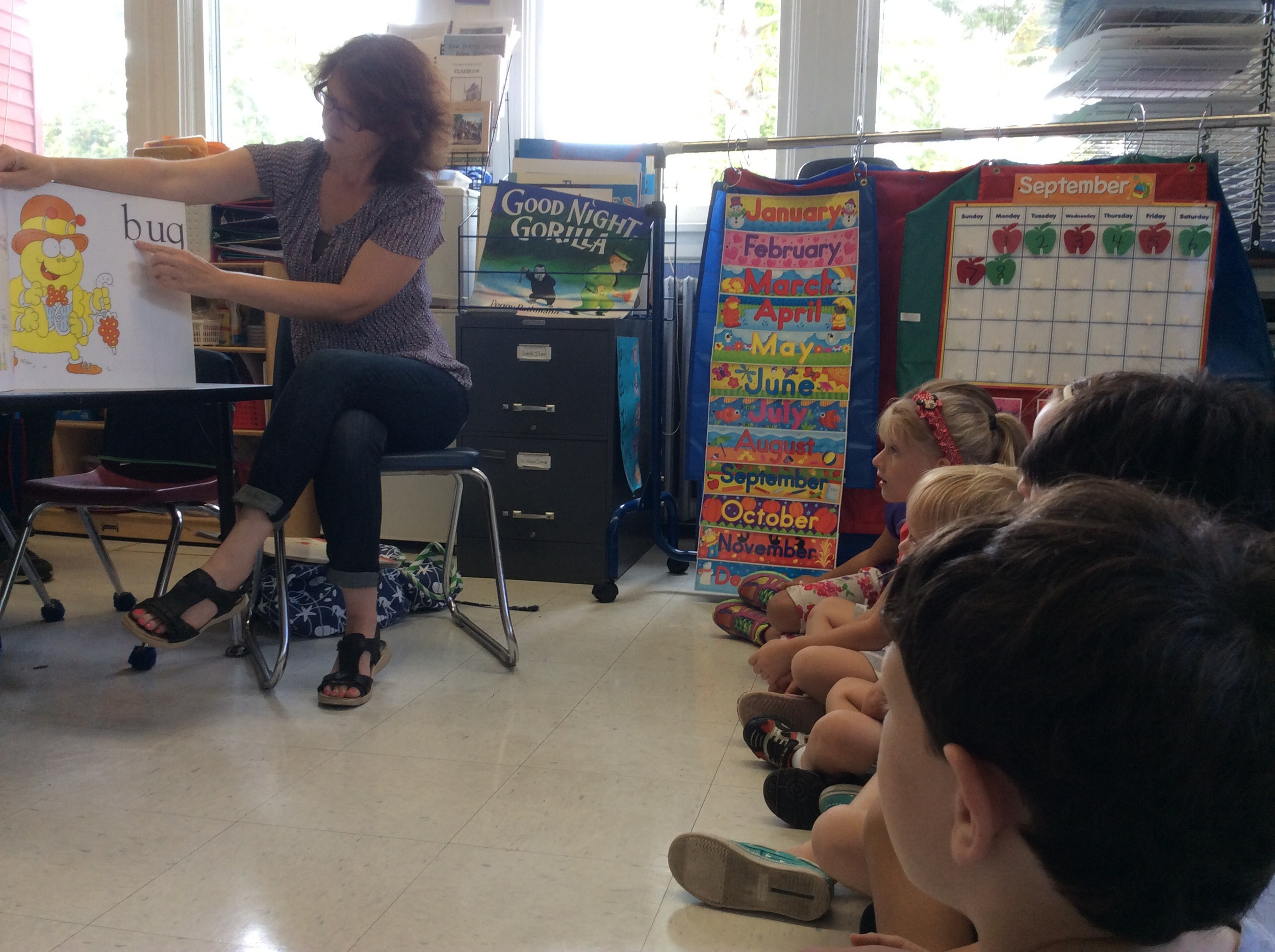 Mrs. Steinfeld prepared a great rhyming lesson for the K & 1 students!