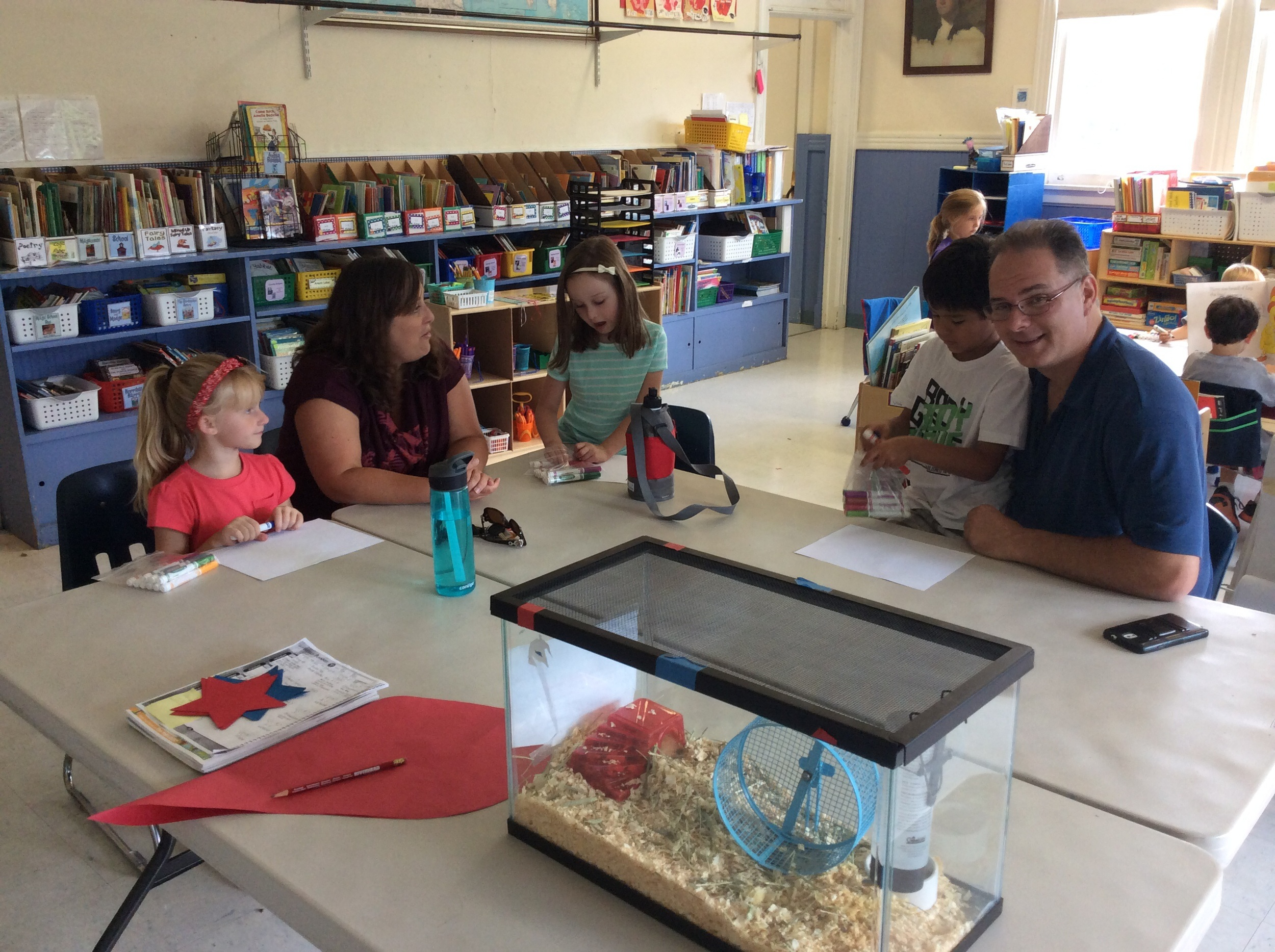 Mrs. Dailey and Mr. Barisic enjoyed illustrating with their children.