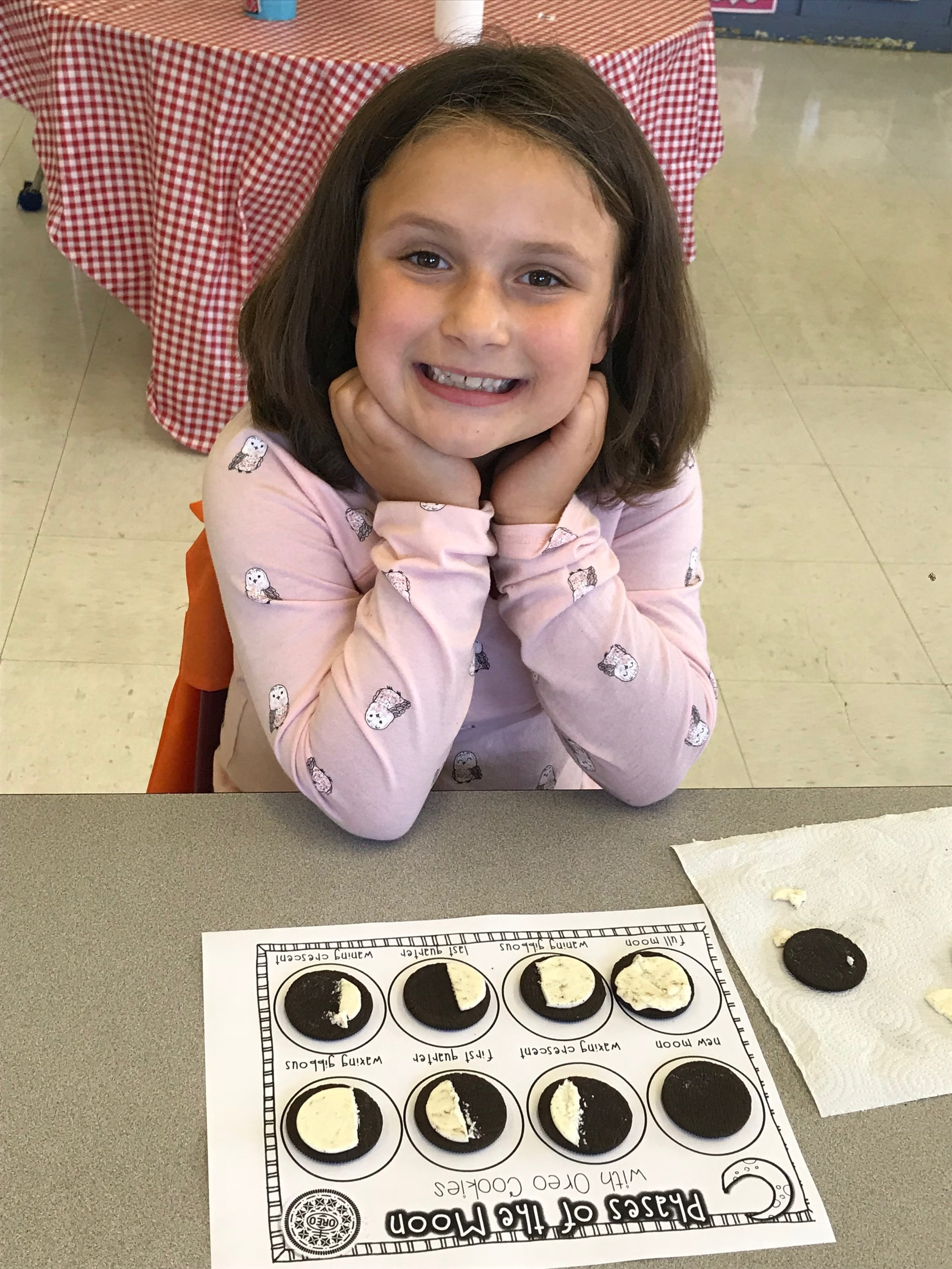 Lydia and her phases of the moon.