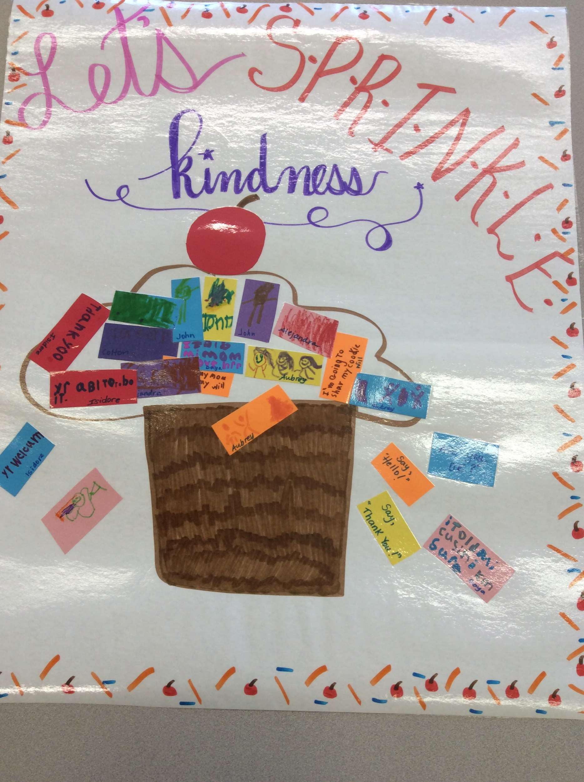 Kindness is  our focus for September.