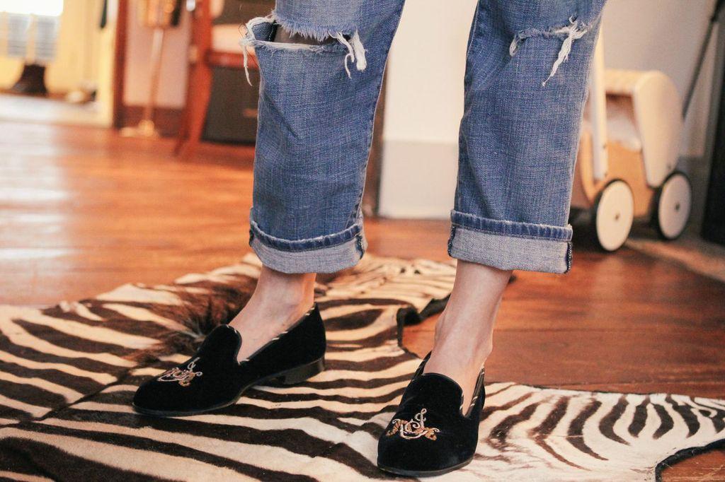 waiting for saturday : jennifer vaughn miller barker black slippers