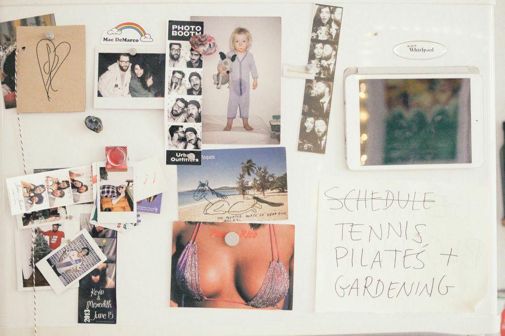 waiting for saturday : sunny shokrae brooklyn apartment fridge art