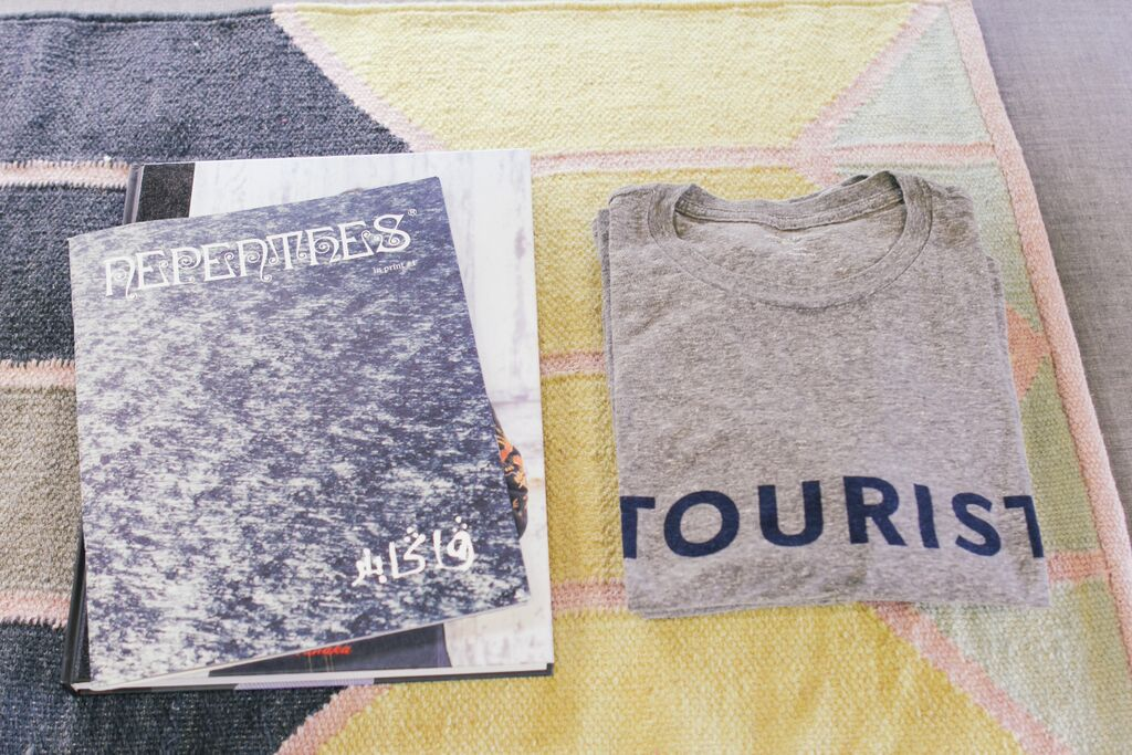 waiting for saturday : tourist t-shirt