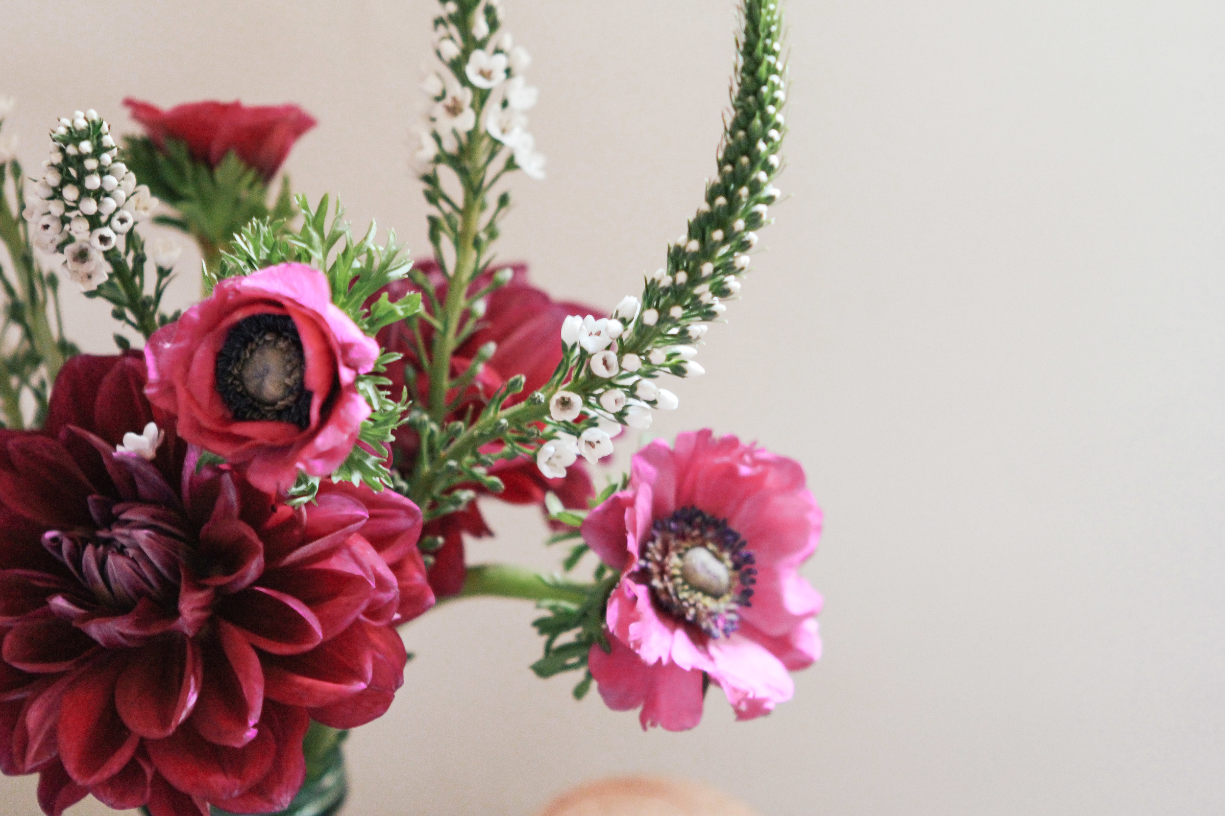 waiting for saturday : flowers at just be