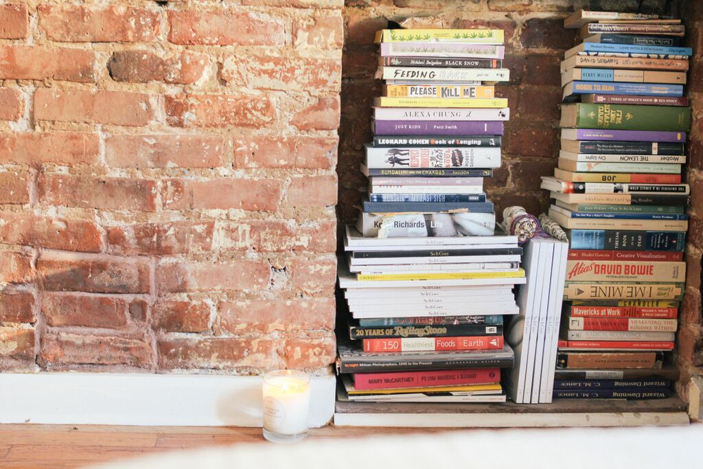 waiting for saturday : books in fire places