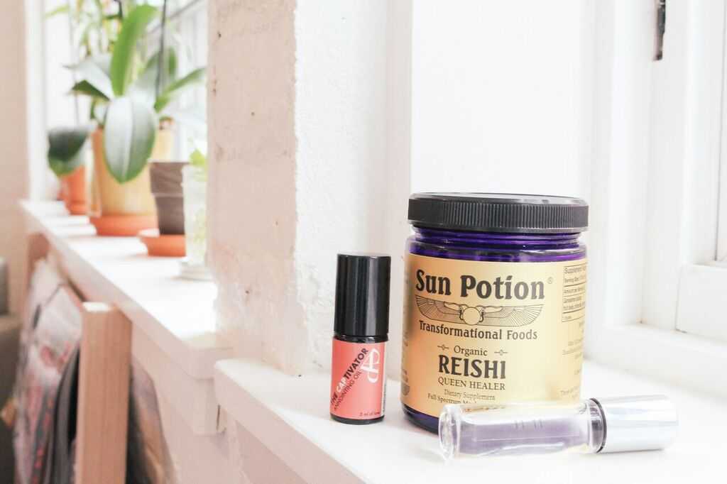 waiting for saturday : sky ting yoga studio : sun potion reishi powder