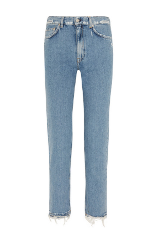 """I'm late to the Acne jeans game, after admiring and hearing about them on practically every wfs hang.  These  have a beautiful light blue wash that feels so spring-y, not to mention a really great straight, classic cut."" -  Olivia"