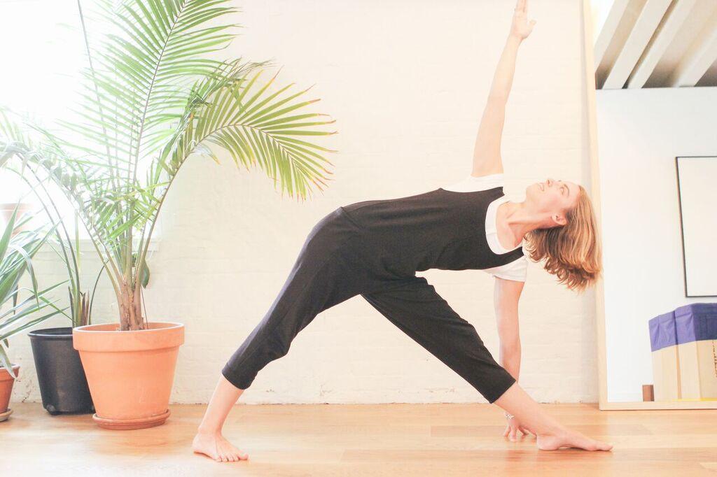 waiting for saturday : chloe kernaghan triangle pose