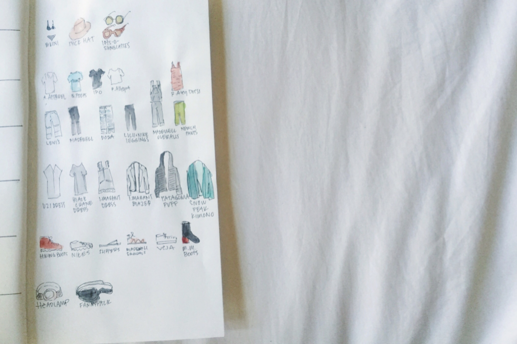 illustrate your packing list (seriously!)