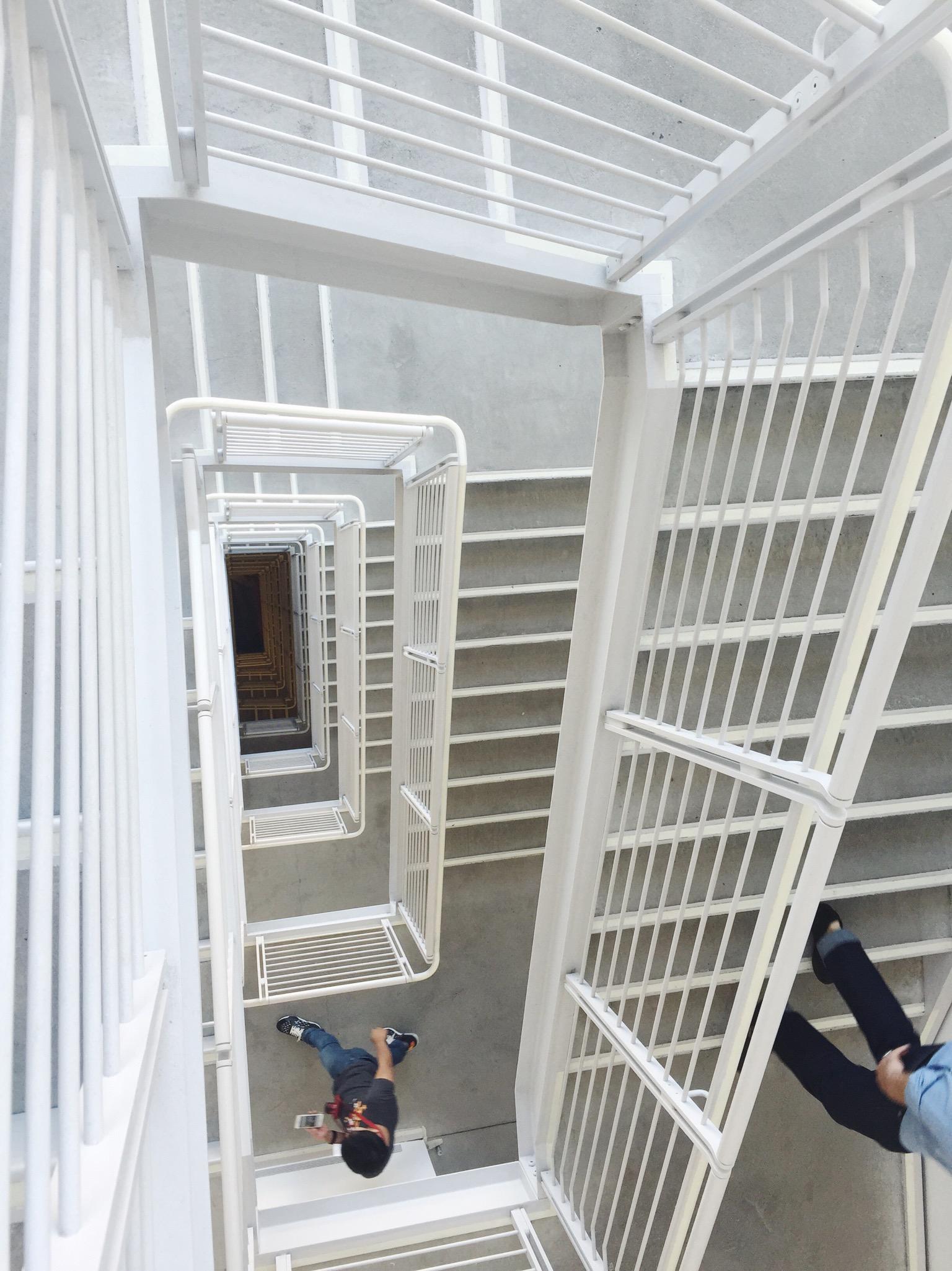 The Whitney's vertigo-inducing stairs