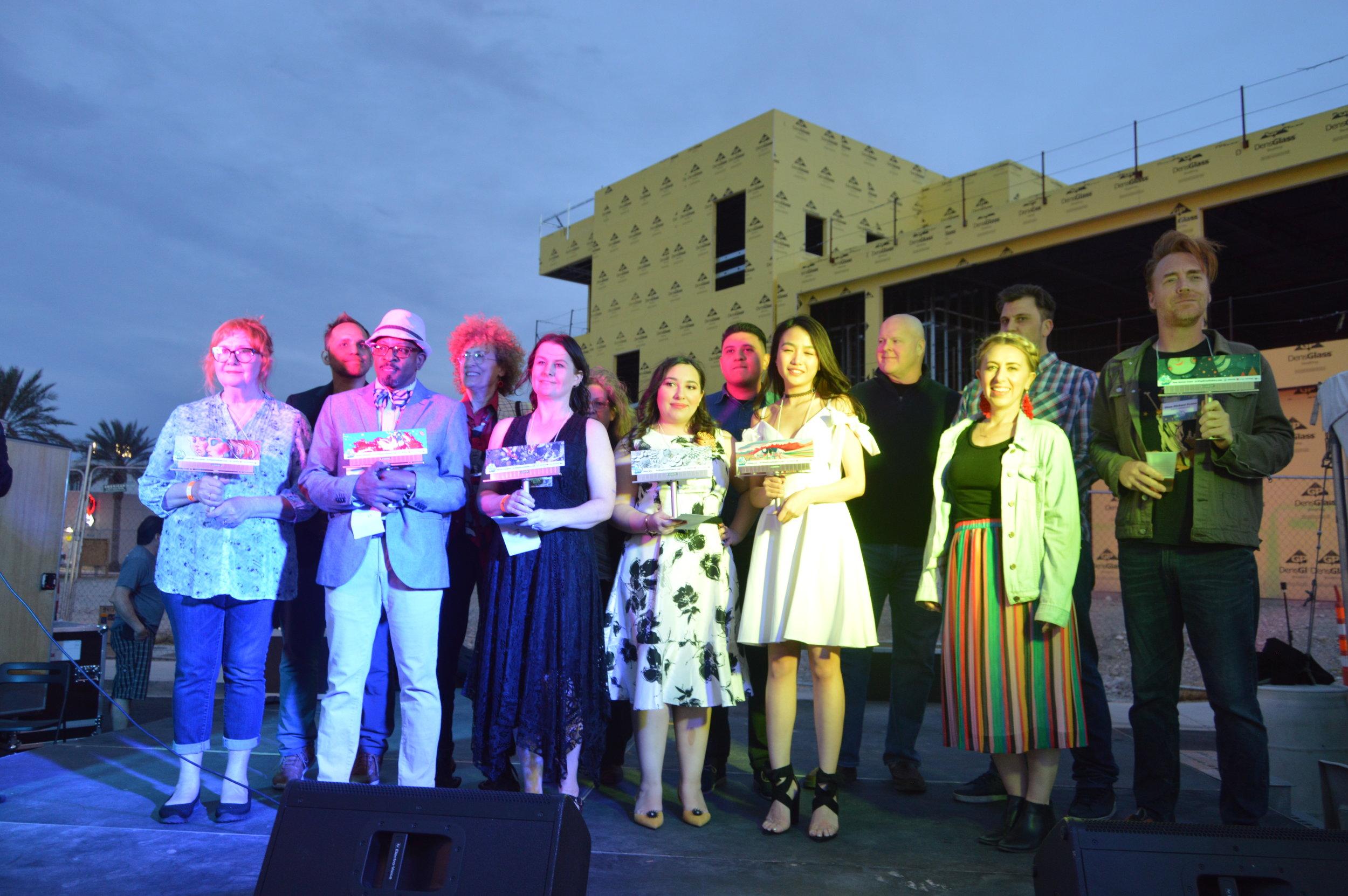 ArtPop Las Vegas 2019 Winners joined by the jury panel and past ArtPop alumni. Photo by Theresa Bautista