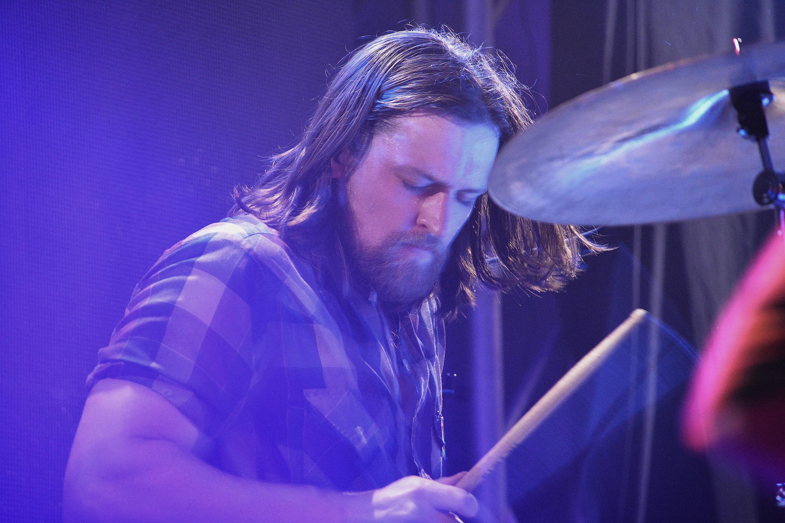 Drummer Lewis Brossman. Photo: Elsa Cantu
