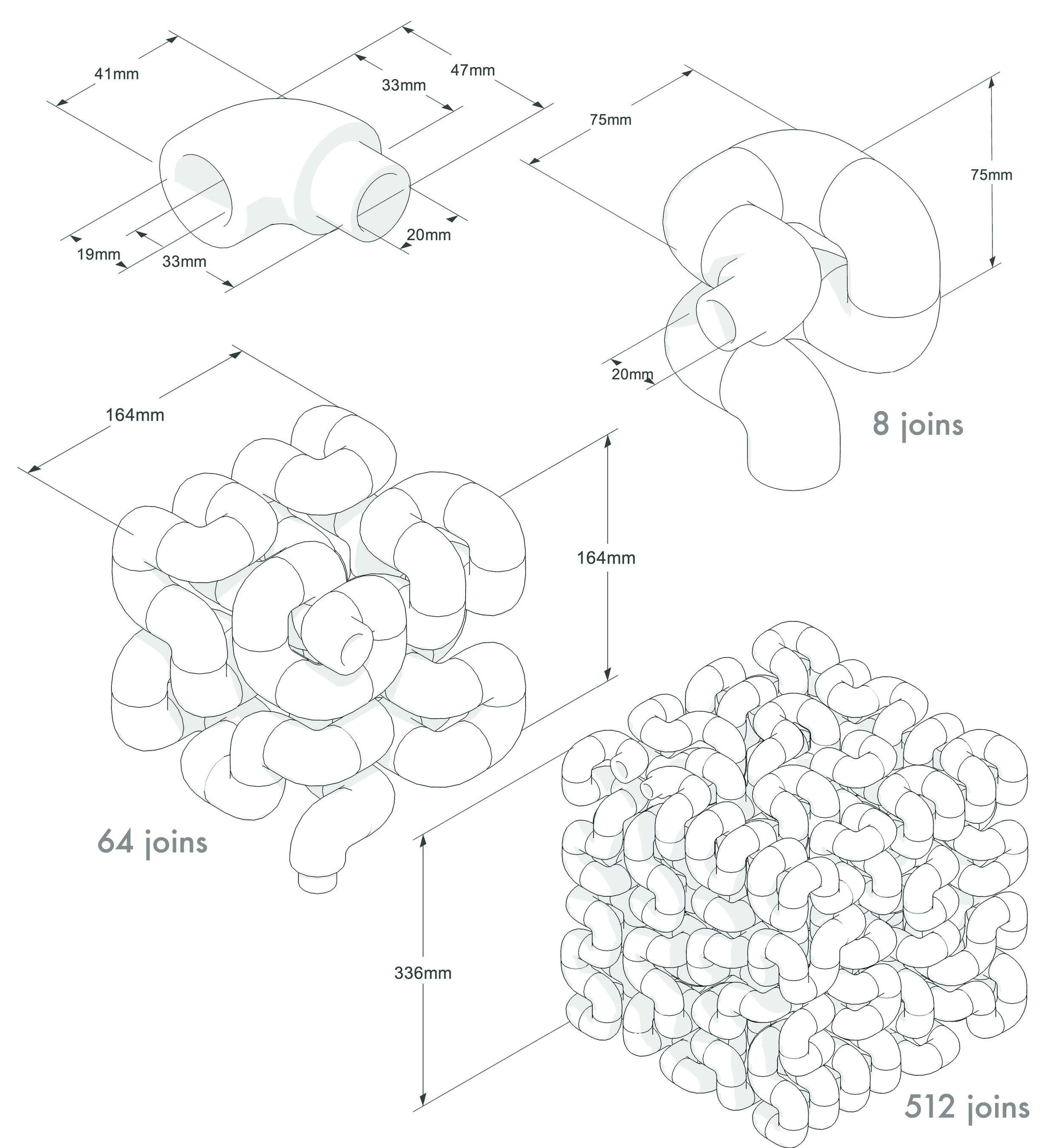 Octocube radiator assembly method