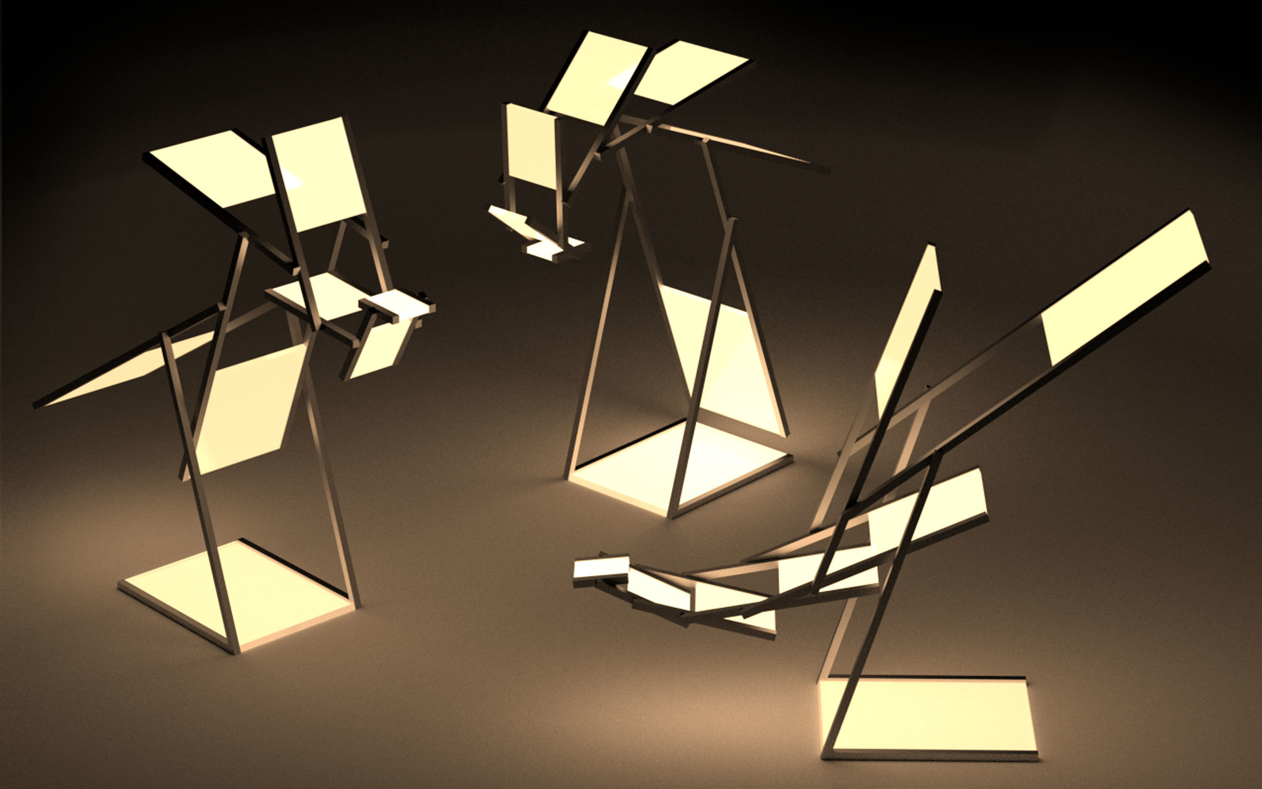 Aequo, the lamp staying in balance