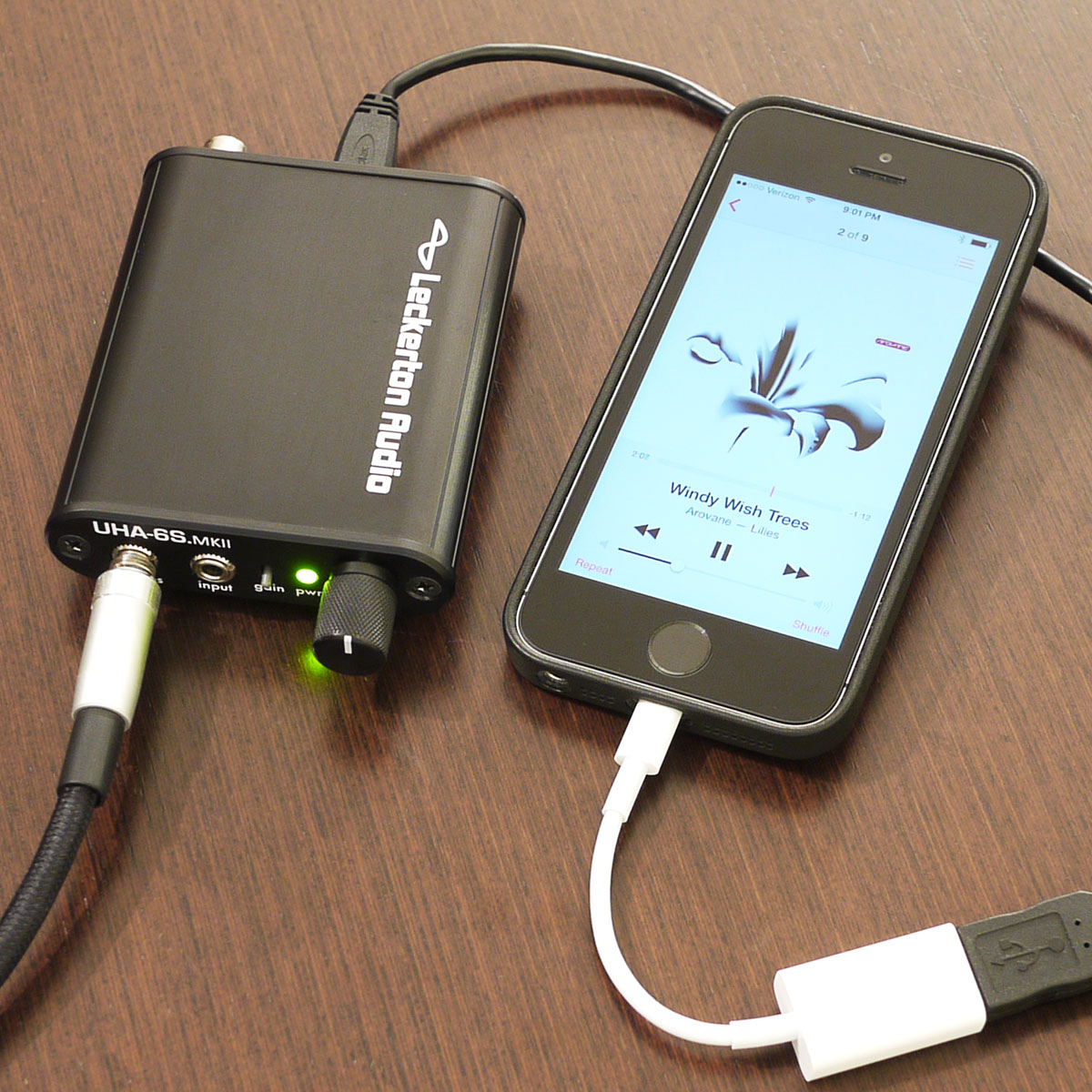 iPhone as digital audio source for the UHA-6S.MKII