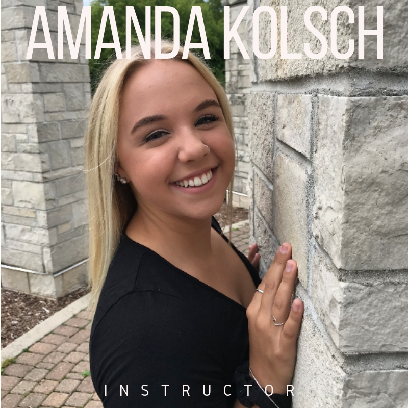 Amanda Kolsch , originally from Menomonee Falls, Wisconsin, is a sophomore at University of Wisconsin- Madison. She is pursuing a Bachelor of Science in dance with a certificate in pilates. She was trained in ballet, tap, jazz, hip-hop, lyrical, contemporary, and pom at Nancy Diane Dance Studio (ages 3-8), Dynamite Dance Studio (ages 8-16), and B. Inspired Dance Studio (ages 16-18) as well as on the Menomonee Falls High School Varsity Dance Team (member and captain). While in middle school and high school, she taught dance at the studios she trained at, other area studios, area recreation departments, and at various dance camps. She is very excited to continue her dance and teaching journeys as a teaching assistant this year with Performing Ourselves!