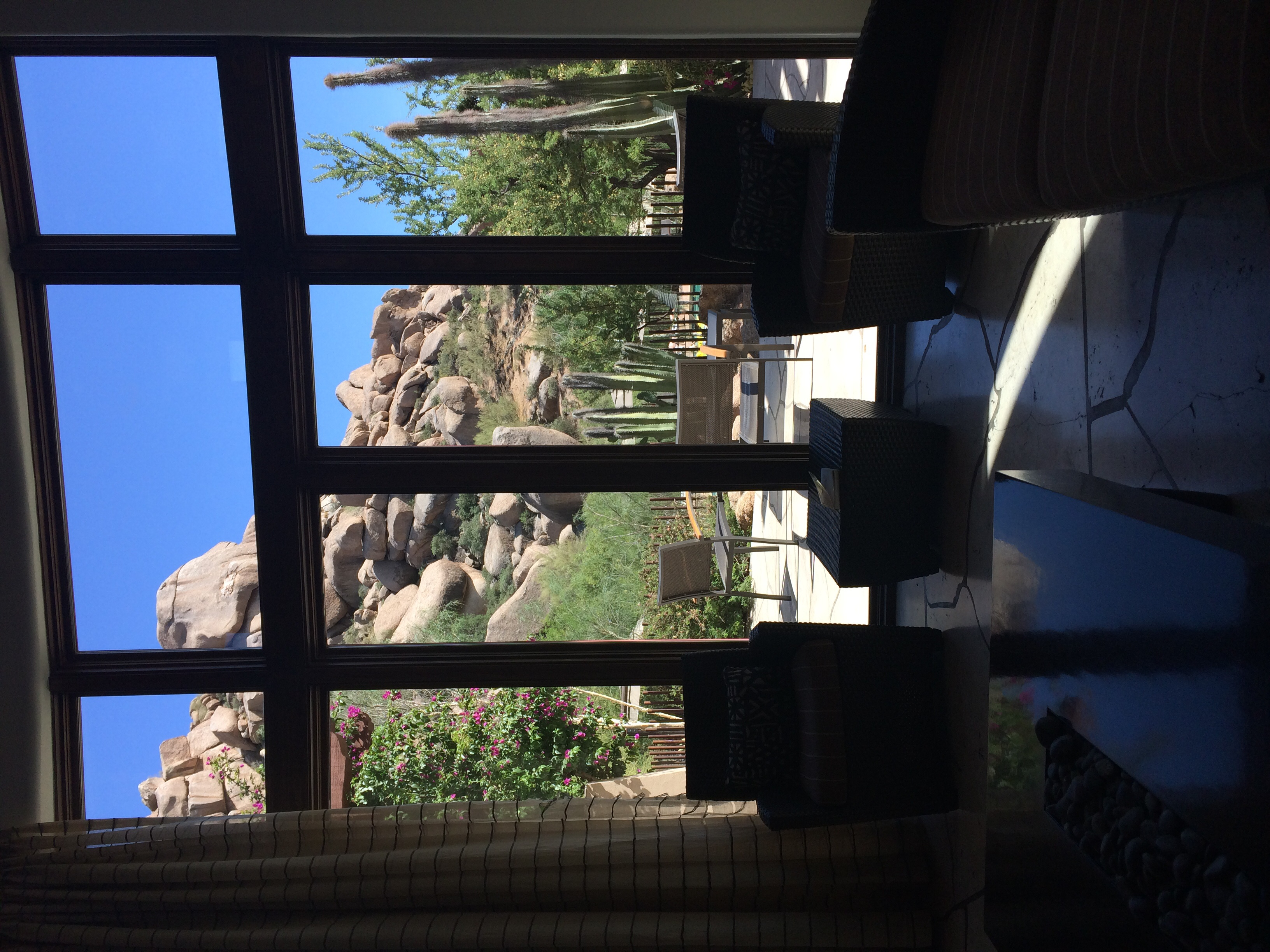The view from the Tea Room in the spa.