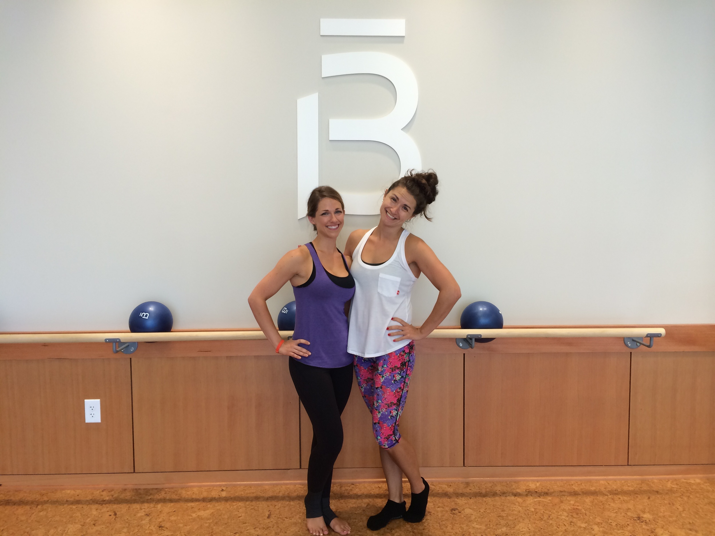 My FWABulous instructor, Jessica, and I pose for a post-barre pic.