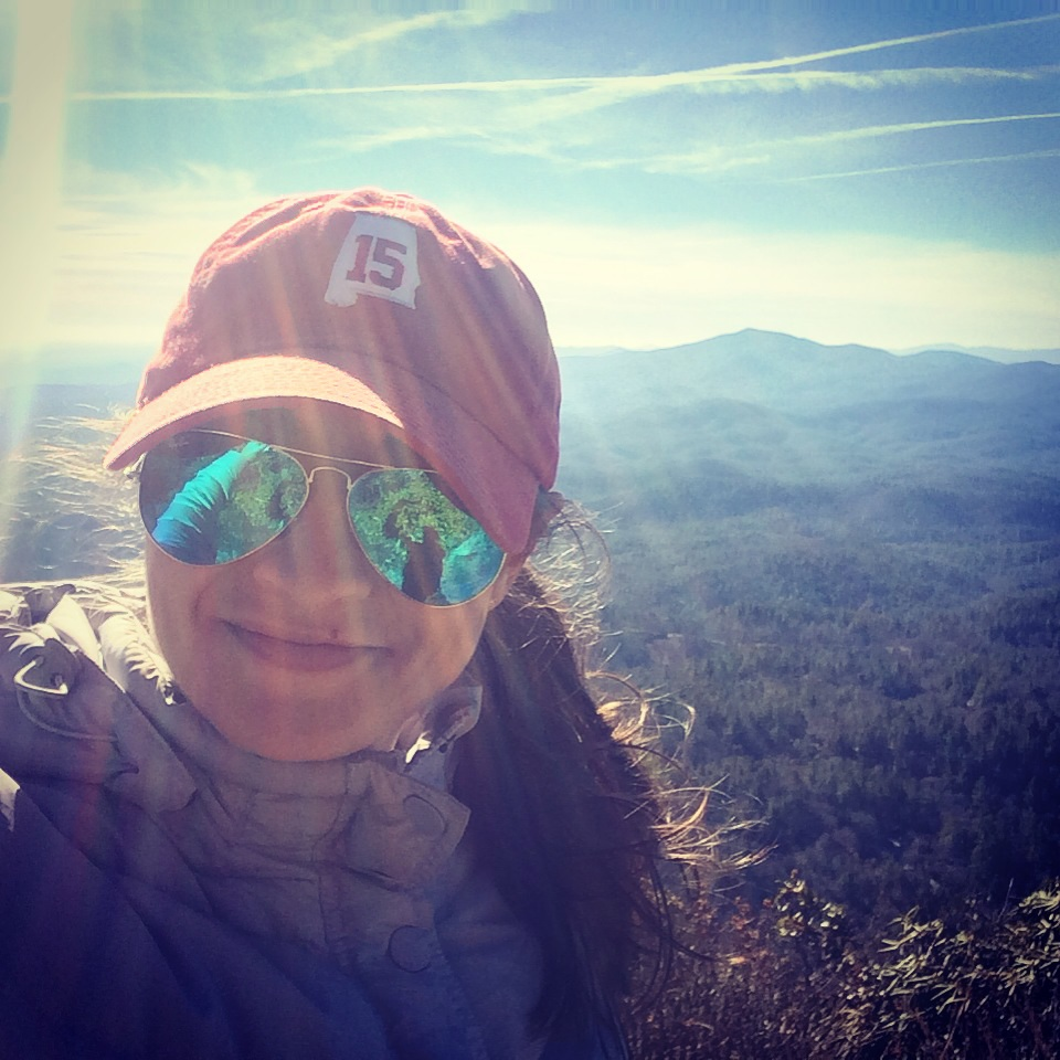 The Fit and Well Atlanta Belle on top of Satulah Mountain.