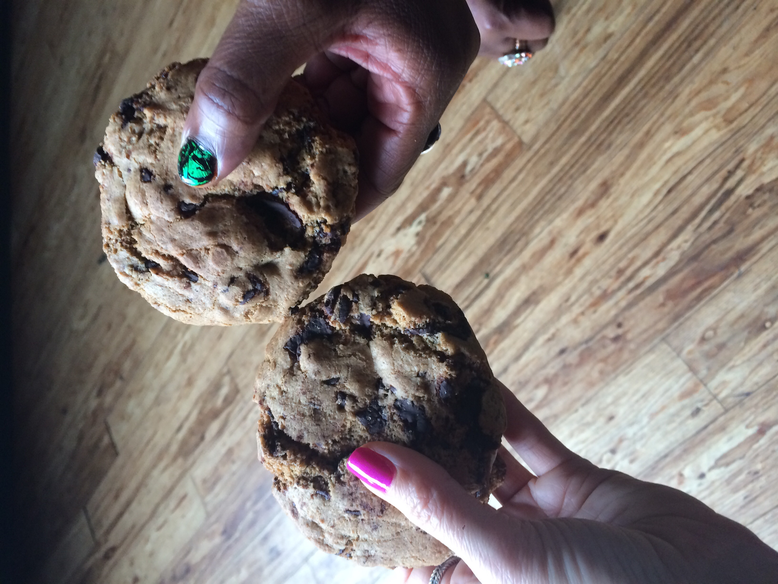 And we couldn't resist trying the chocolate chip cookie whoopie pies. Worth every happy calorie.