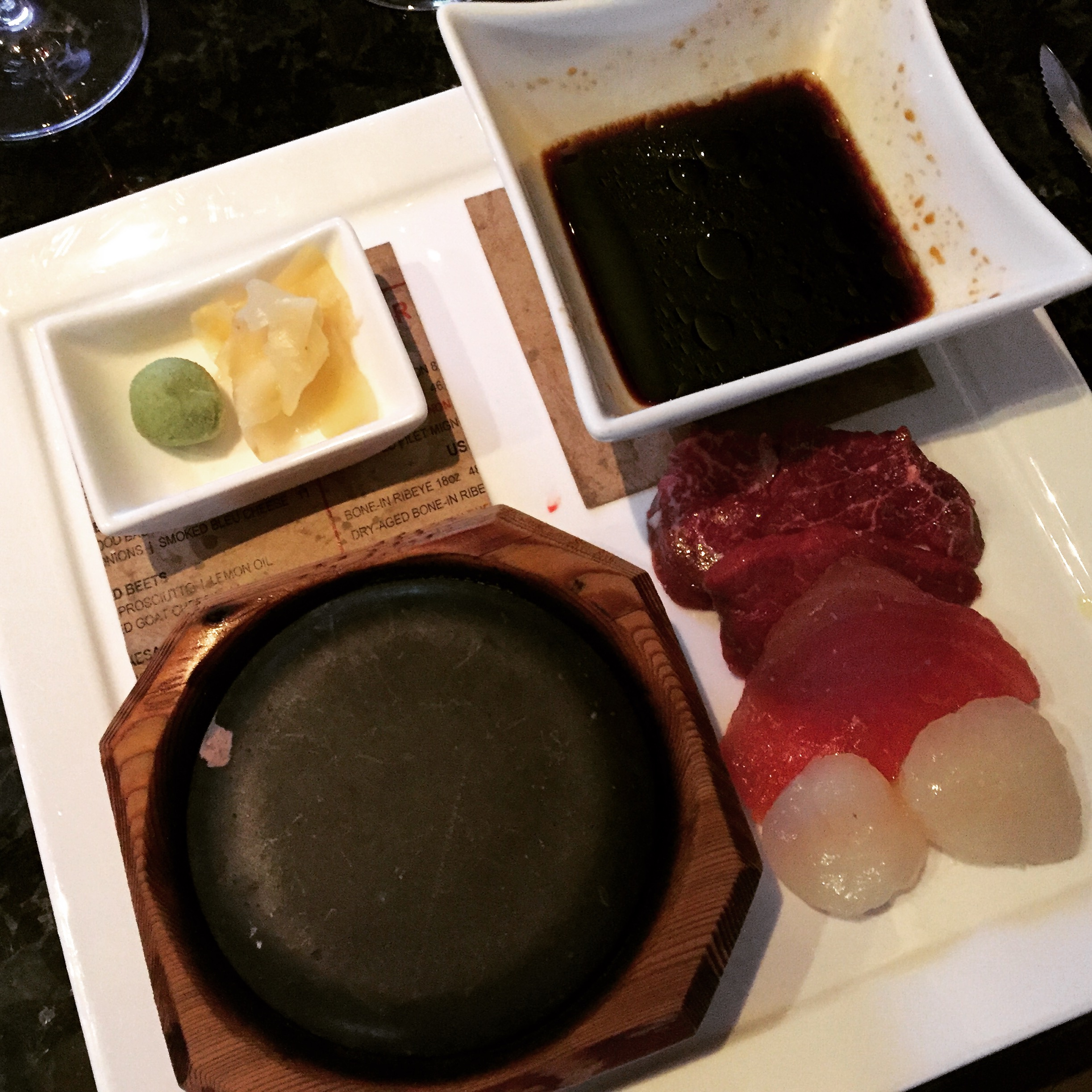 EDGE's signature 900-degree hot stone cooking experience.