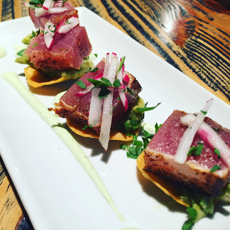 The Ahi tuna tostadas.