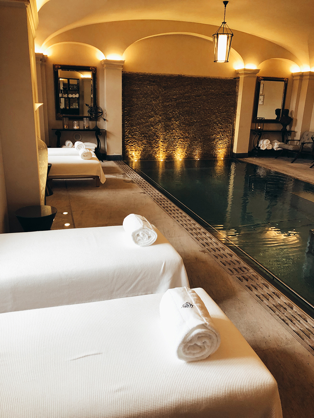 The vitality pool at the AVA Spa.