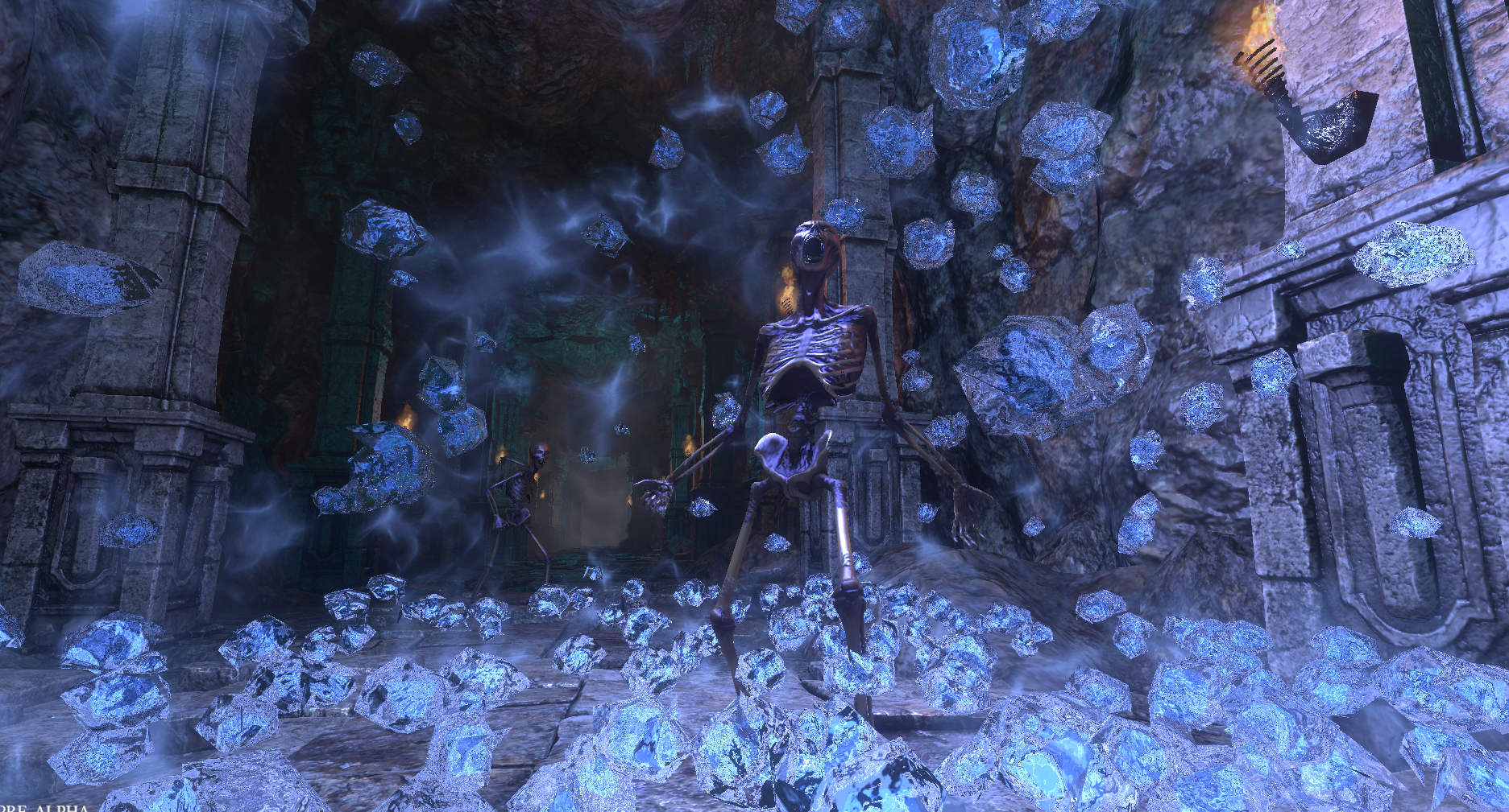 Skeleton Breaking out of the Grave Knight's Frost Spell