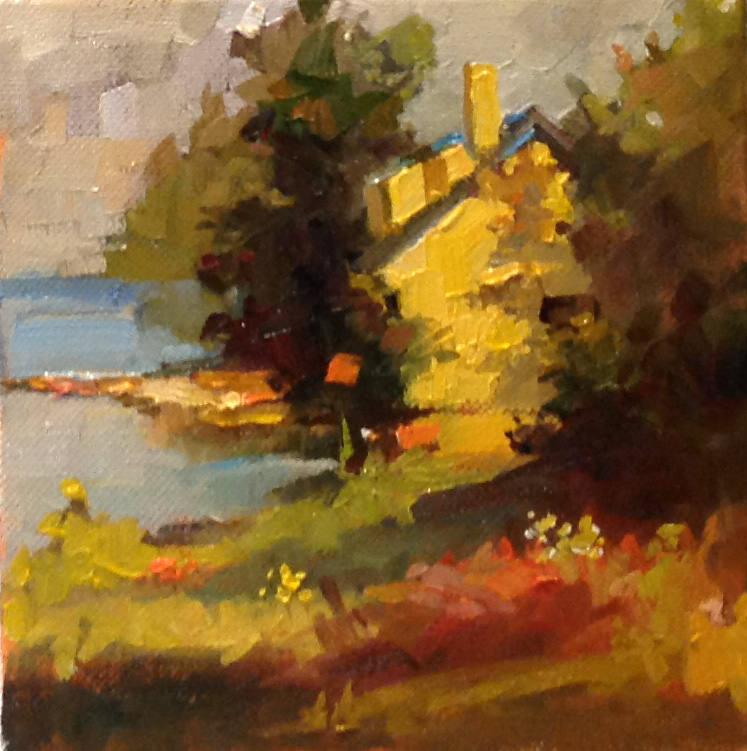 "Maine Cottage o/c 6"" x 6"""