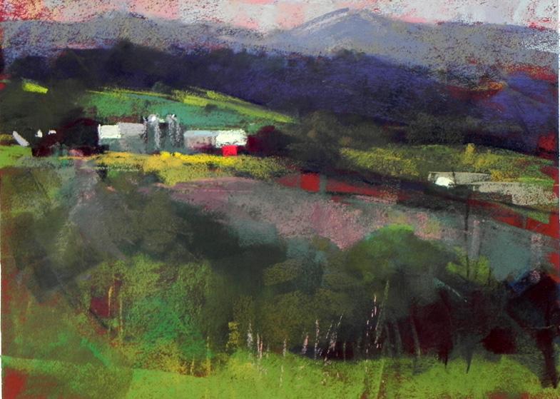 """E. Montpelier Farm   12"""" x 9"""""""