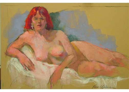 """Come Hither   pastel  18"""" x 24"""""""